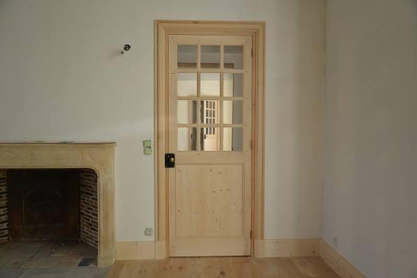 porte bois vitree sur mesure