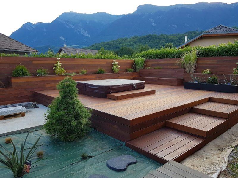 Terrasse extérieur - jardin zen
